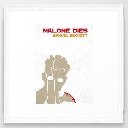 Malone Dies - Samuel Beckett Framed Art Print