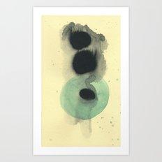 Cosmic Green Light Art Print