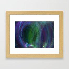 Circular Motion LightPainting Framed Art Print