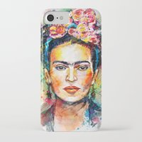 frida iPhone & iPod Cases featuring Frida Kahlo by Tracie Andrews