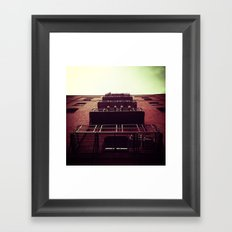 LOOKING UP IN DOWNTOWN PORTLAND, OR Framed Art Print