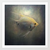 angel Art Prints featuring Angel by Pauline Fowler ( Polly470 )