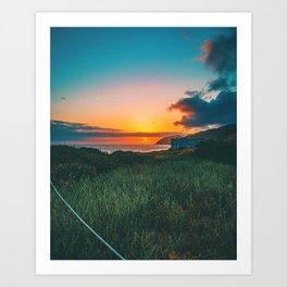 Summer Sunset / Malibu, California Art Print