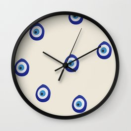 Eye'm Watching You- Blue Evil Eyes Wall Clock