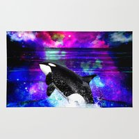 orca Area & Throw Rugs featuring Orca by haroulita