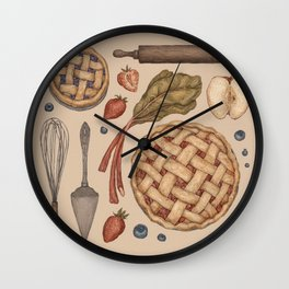 Pie Baking Collection Wall Clock