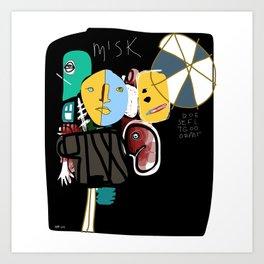 Misk Art Print