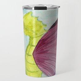Seahorse butterfly Travel Mug
