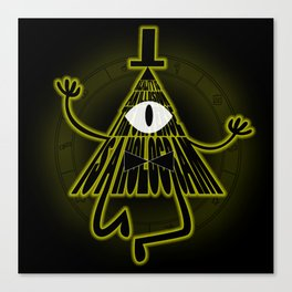 Bill Cipher, Reality is an illusion Canvas Print