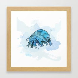 Water Bear 1 in Blue Framed Art Print