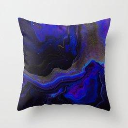 Dark Purple Blue Galaxy - Midnight Shades Throw Pillow