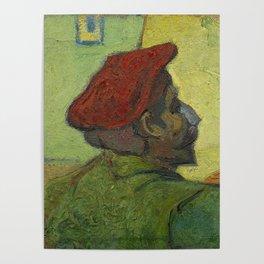 "Vincent van Gogh ""Portrait of Paul Gauguin (Man in a Red Beret)"" Poster"