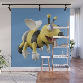 3D bee Wall Mural