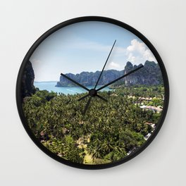 Railay Bay - Rai Leh Beach, Krabi Thailand  -  Tropical Paradise Wall Clock