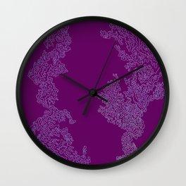 Abstract Sea Life Deep Pink Wall Clock