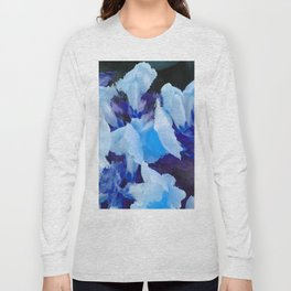 Blue Snapdragons Flower Abstract Long Sleeve T-shirt