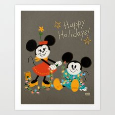 Happy Holidays 2016 Art Print