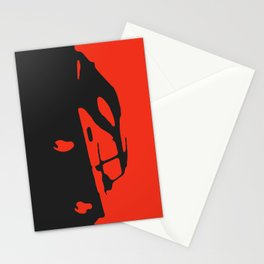 Saab 900 classic, Red on Black Stationery Cards