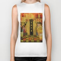 taxi driver Biker Tanks featuring Taxi Driver by David Amblard