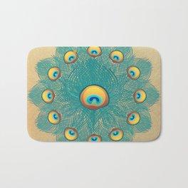 Mandala Peacock Bath Mat