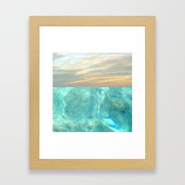 seascape 001 Framed Art Print
