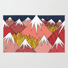 The mountains in the forest Rug