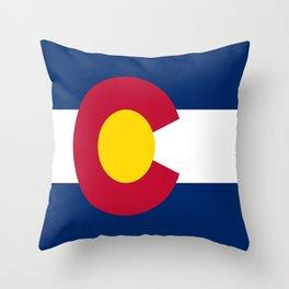 flag colorado,america,usa,south,desert, The Centennial State,Coloradan,Coloradoan,Denver,Springs Throw Pillow