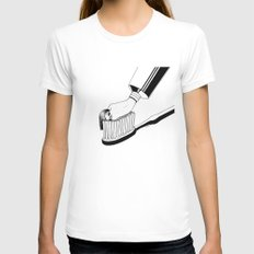 Good Morning Womens Fitted Tee White MEDIUM
