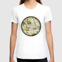 escher T-shirts featuring Escher Intersection by Vin Zzep