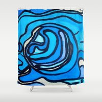shell Shower Curtains featuring Shell by Abstract Jack95