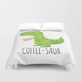 Coffee-saur Duvet Cover