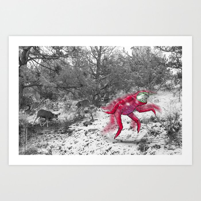 Unseen Monsters of Mount Shasta - Cheviank Wilkchum Art Print