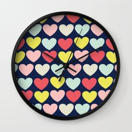 OH Love! Pattern Wall Clock