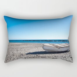 fishermans wooden boat Rectangular Pillow