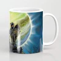 heavy metal Mugs featuring Heavy Metal Knights by Sandra Chang-Adair