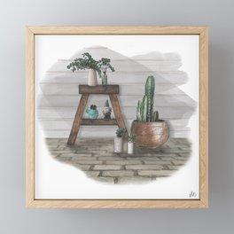 Green Home, Happy Home Framed Mini Art Print