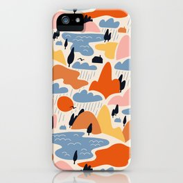 Abstract landspace iPhone Case