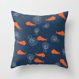Fisherman's Fish Throw Pillow