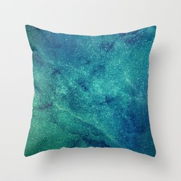 Space Marble Throw Pillow