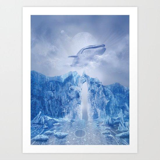 white landscape 1 Art Print