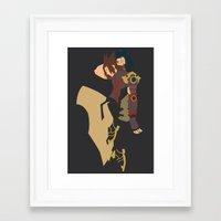 kingdom hearts Framed Art Prints featuring Kingdom Hearts - Terra by TracingHorses
