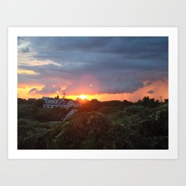 Sunset on Block Island Art Print