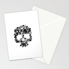 Skull bw w Stationery Cards
