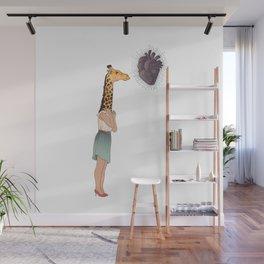 Giraffe Girl Wall Mural