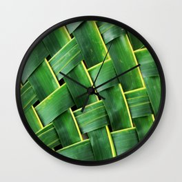 COCONUT LEAF Wall Clock