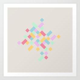 Abstract Geometry Pastels Art Print