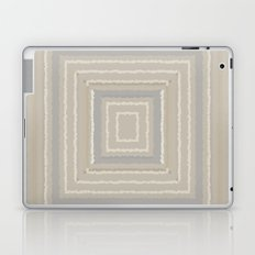 Sandy Beige Concentric Squares Laptop & iPad Skin
