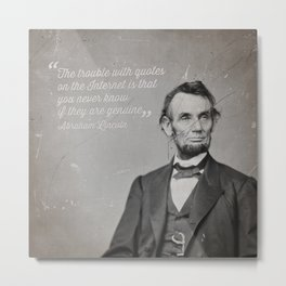 Abraham Lincoln Quote Metal Print