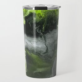 Lime Green Lightning Travel Mug