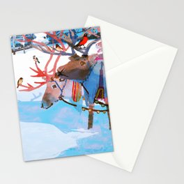 Reindeers and friends Stationery Cards